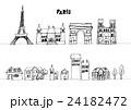 ヨーロッパ 街並み 線画 24182472