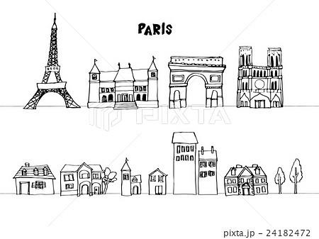 ヨーロッパ 街並み 線画のイラスト素材 24182472 Pixta
