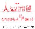 ヨーロッパ 建物 線画 24182476