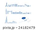 ヨーロッパ 建物 線画 24182479