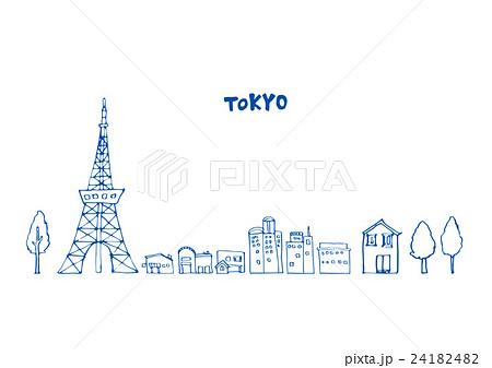 東京 建物 線画のイラスト素材 [24182482] , PIXTA
