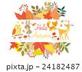 秋のイラスト集 動物 植物 24182487