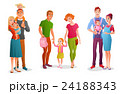 Set families with children. Vector illustrations 24188343