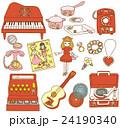 日本の昔のおもちゃ 女の子の玩具 24190340