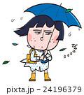 豪雨 傘 レインコート 24196379