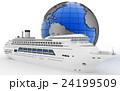 船 クルーズ 贅沢のイラスト 24199509