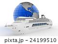 船 クルーズ 地球のイラスト 24199510