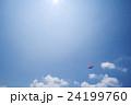 パラセーリング スポーツ 青空の写真 24199760