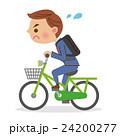必死で自転車を漕ぐビジネスマン 24200277