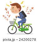 自転車のベルを鳴らすビジネスマン 24200278