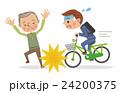 自転車 男性 ベクターのイラスト 24200375