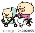 ブタの赤ちゃんとお母さん 24202055