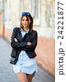 Portrait face of an young fashion brunette model 24221877