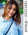 Portrait face of an young fashion brunette model 24221881