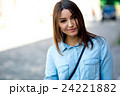 Portrait face of an young fashion brunette model 24221882