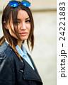 Portrait face of an young fashion brunette model 24221883