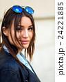 Portrait face of an young fashion brunette model 24221885