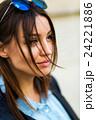 Portrait face of an young fashion brunette model 24221886