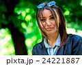Portrait face of an young fashion brunette model 24221887