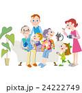 敬老の日を祝う家族 24222749