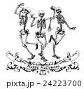Happy halloween dancing skeletons illustration 24223700