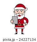 サンタ 全身 白バックのイラスト 24227134