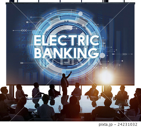 Electric Banking E-banking Technology Banking Conceptの写真素材 [24231032] - PIXTA