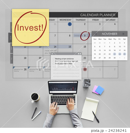 Invest Assets Finance Budgeting Schedule To Do Conceptの写真素材 [24236241] - PIXTA