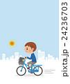 自転車 学生 男子のイラスト 24236703
