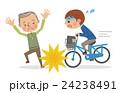 自転車 学生 ベクターのイラスト 24238491