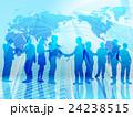 ビジネスグローバル化-青 24238515
