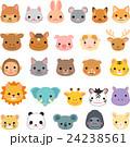 動物 顔 セットのイラスト 24238561