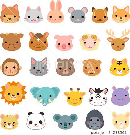 動物の顔のイラストセット 24238561
