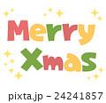 クリスマス ロゴ 文字のイラスト 24241857