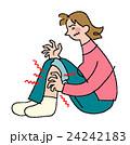 足 人物 女性のイラスト 24242183