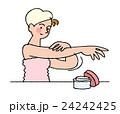 風呂上がり スキンケア 人物のイラスト 24242425