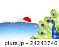 孔雀 富士山 鳥のイラスト 24243746