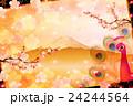 孔雀 富士山 鳥のイラスト 24244564