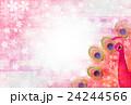 孔雀 鳥 桜のイラスト 24244566