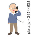 電話する老人 びっくり 24244638