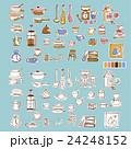 可愛い食器類のイラスト 24248152