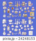 可愛い食器類のイラスト 24248153