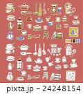 可愛い食器類のイラスト 24248154