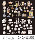 可愛い食器類のイラスト 24248155