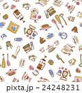 食器類のイラストパターン, 24248231