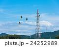 電線 送電線 高所作業の写真 24252989