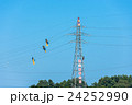 電線 送電線 高所作業の写真 24252990