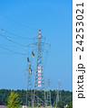 電線 送電線 高所作業の写真 24253021