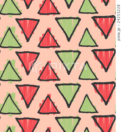 Rough triangles marker colored on pinkのイラスト素材 [24253228] - PIXTA