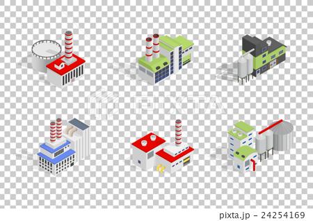 Isometric industrial factory buildings 24254169